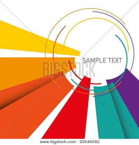 Illustrated colorful layout with abstraction. Vector illustration.