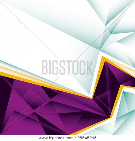 Abstract layout with crystal forms. Vector illustration.