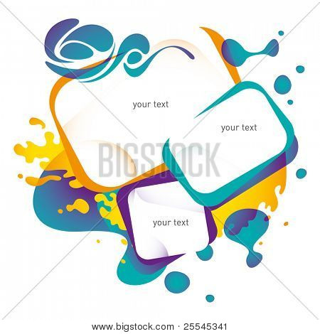 Colorful urban layout with designed forms. Vector illustration.