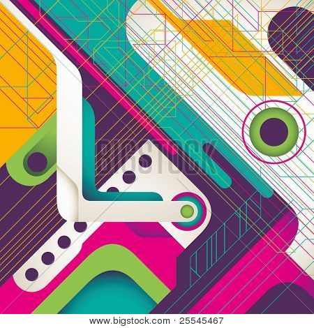 Creative technology background with abstraction. Vector illustration.