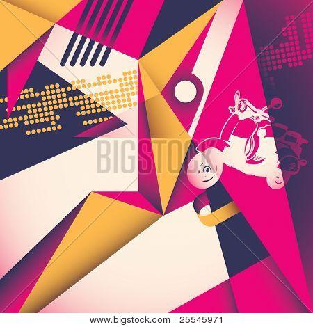 Modish abstract illustration. Vector illustration.
