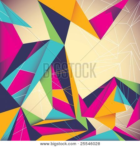 Colorful illustrated abstraction. Vector illustration.