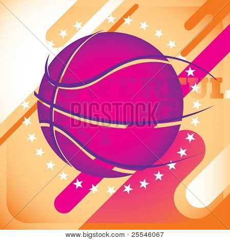 Modish basketball banner. Vector illustration.
