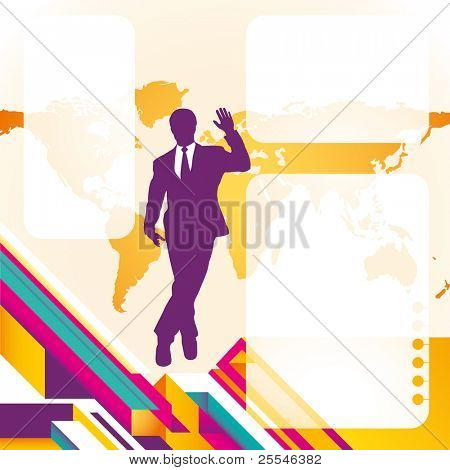 Business technology banner. Vector illustration.