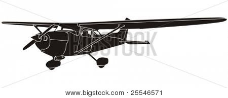Silhouette light aircraft