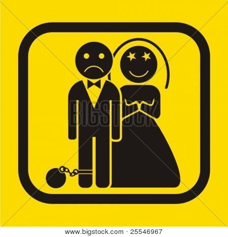 Wedding icon - vector