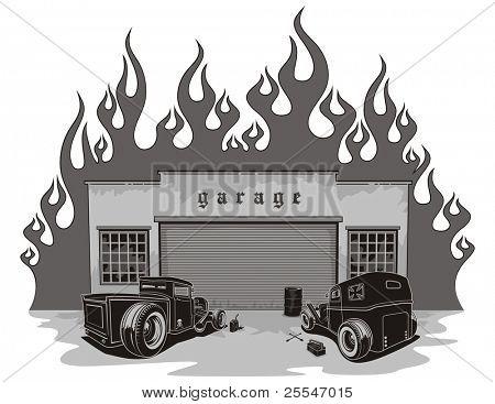 Rat rods garage.
