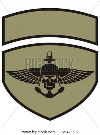 Insignia del ejército con el cráneo.