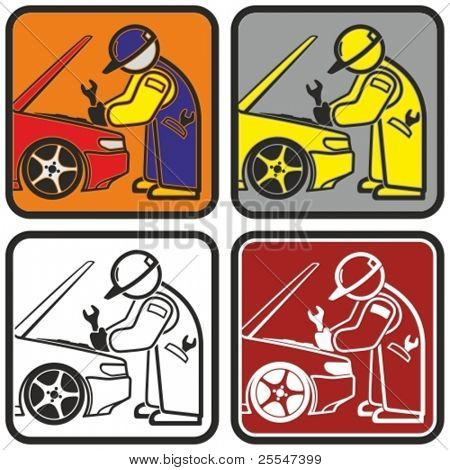 Auto repair icon. Vector illustration.