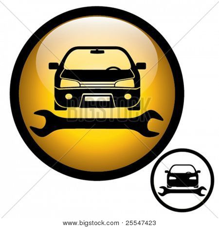 Auto repair shop sign. Vector illustration.