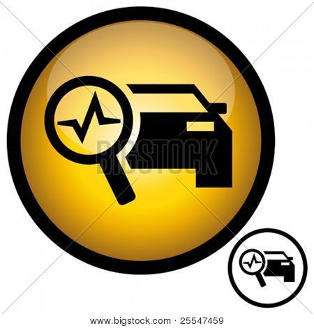 Kfz Diagnose-Reparatur-Symbol. Vektor-Illustration.