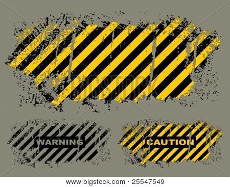 Vector grungy hazard stripes texture.