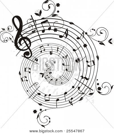 Swirling melody, each element has own layer