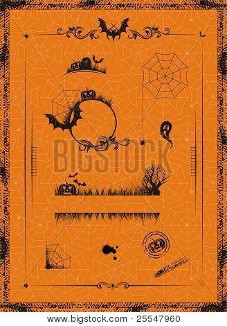 Halloween set Design-Elemente