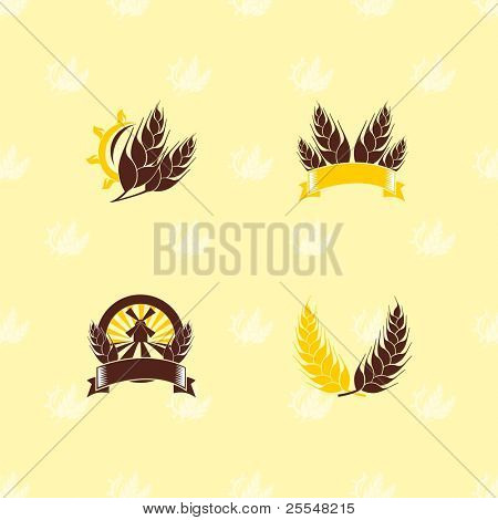 Agriculture set of design elements