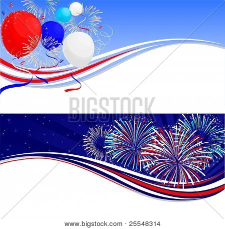 Fourth Of July Feier Banner