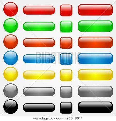 Colorful Vector Web Buttons