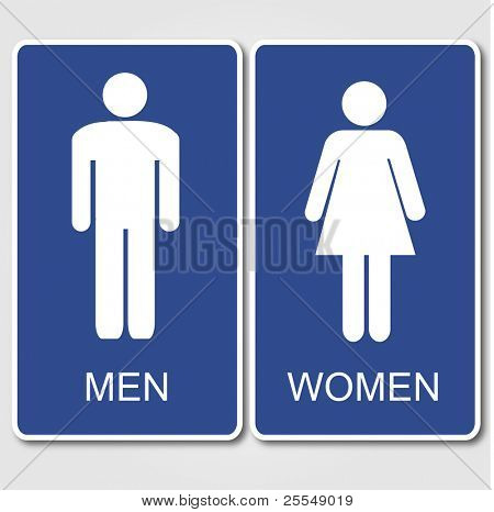 Restroom Signs Illustration