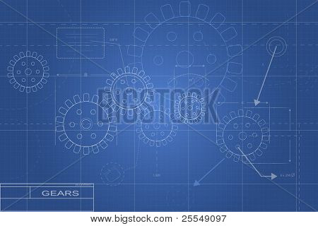 Blueprint Gear Illustration