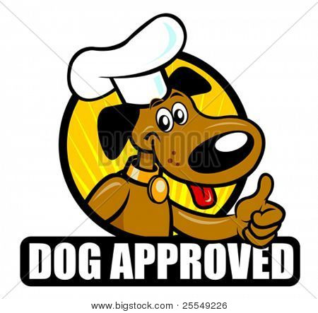 Funny seal of a Cooker dog approving. Ideal for supporting products such food for dogs
