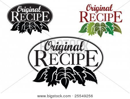 Original Recipe Icon / Mark / Seal