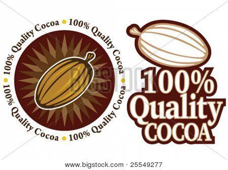 Quality Cocoa Seal / Mark / Icon