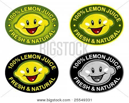 Lemon Fresh & Natural Seal in vectors