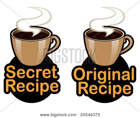 Receta original / secreto sello / marca / icono