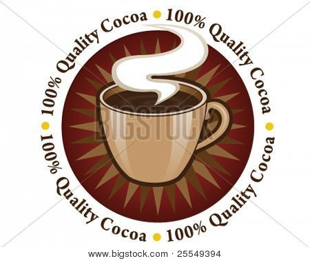 100% Quality Cocoa Seal / Mark / Icon