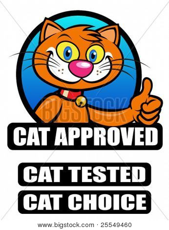 Cat  Approved / Tested / Choice Seal