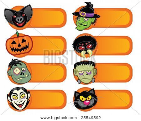 Halloween Character Labels Collection