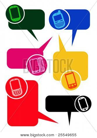 Smartphones Dialog Bubbles in vectors