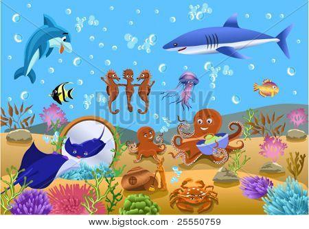 Unterwasser Leben