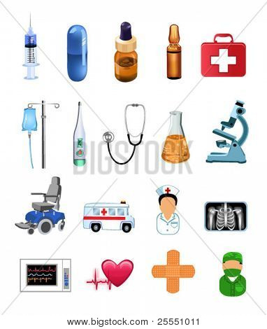 medicine objects and icons
