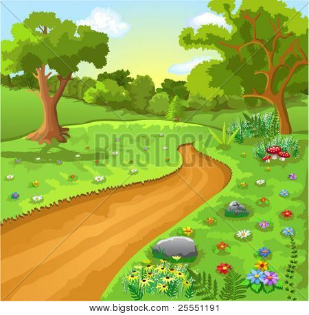Cartoon Naturlandschaft