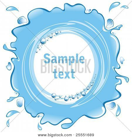 Water frame with bubbles.  Whirlpool. (vector illustration)