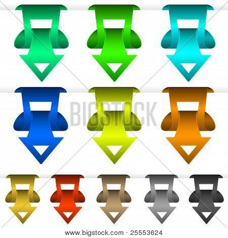 Vector Sticker Arrow Set For Your Design