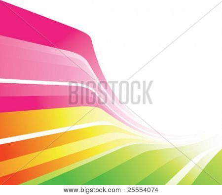 A stylish design with lines in various colors