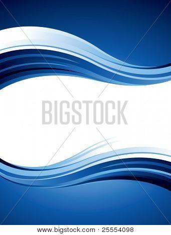 Diseño vectorial abstracto azul con ondas y curvas