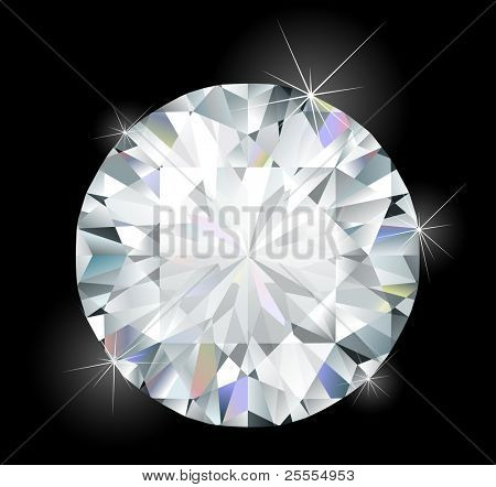 Shiny bright diamond