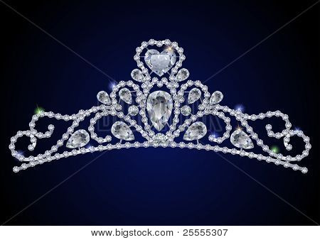 Diamond tiara - vector