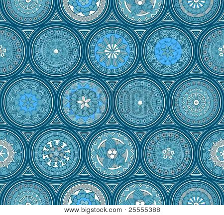 Blue seamless pattern - raster version