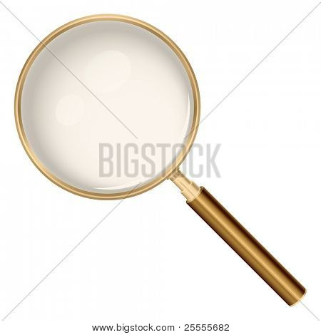 Magnifying glass realistic illustration