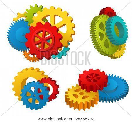 Gear mechanisms set