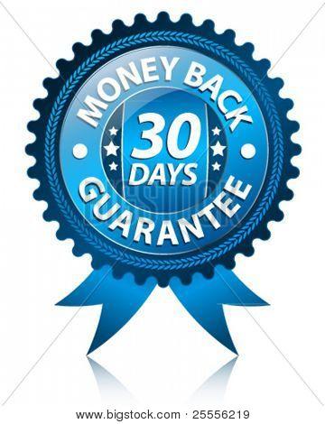 Beschriften Sie 30 Tage Geld-zurück