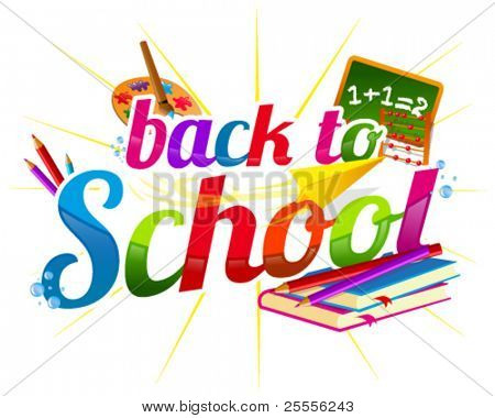 Colorful back to school banner