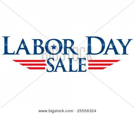 Dia do trabalho venda vector letras