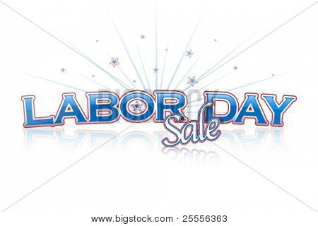Labor Day Sale lettering