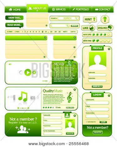 Web design elements pack 2