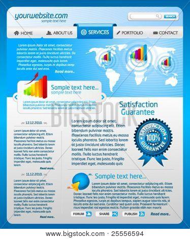 Plantilla de sitio web de negocios azul